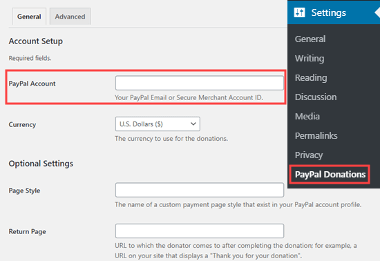 PayPal email address