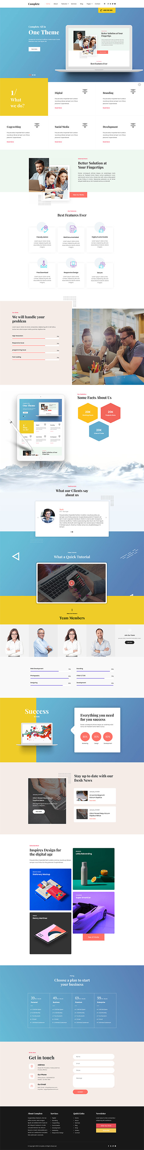 complete WordPress theme