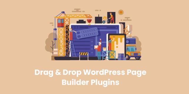 drag-&-drop WordPress page builder plugins