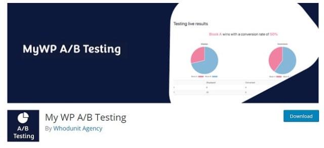 My WP AB testing plugin