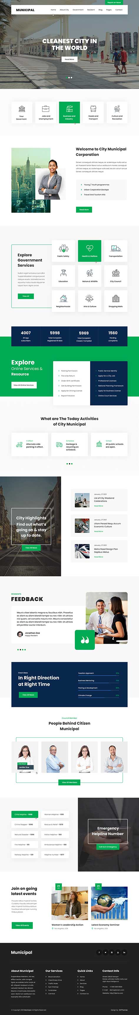 City Government WordPress theme