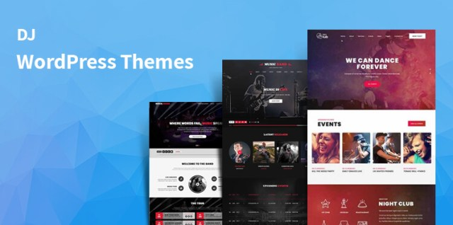 DJ WordPress themes