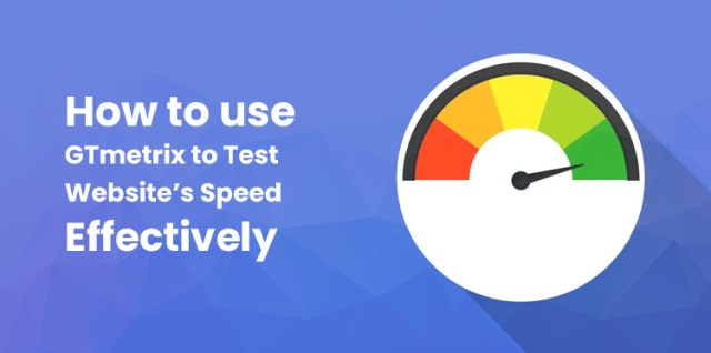 GTmetrix to test a websites speed