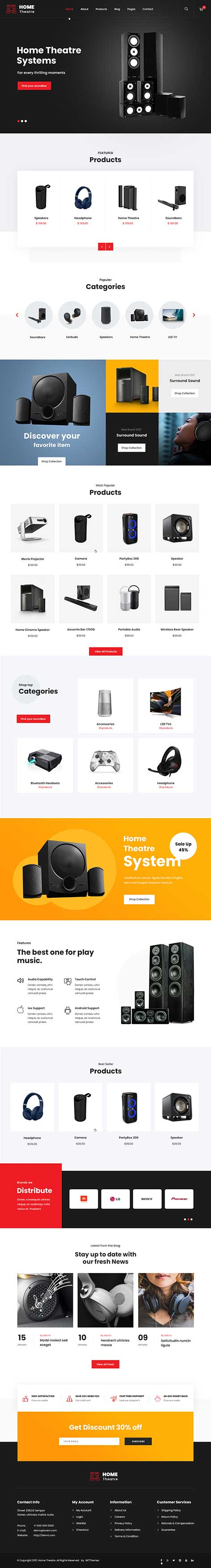 home theatre WordPress theme