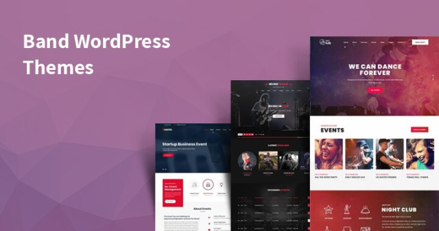 WordPress themes for bands