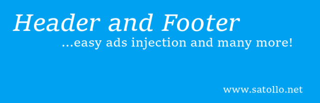Head, Footer and Post Injections