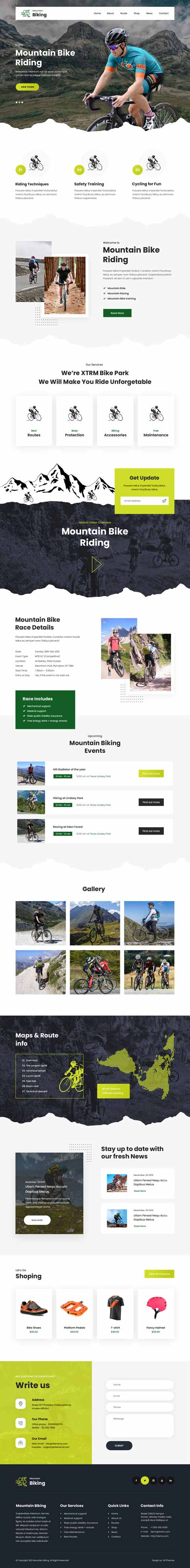 cycling club WordPress theme