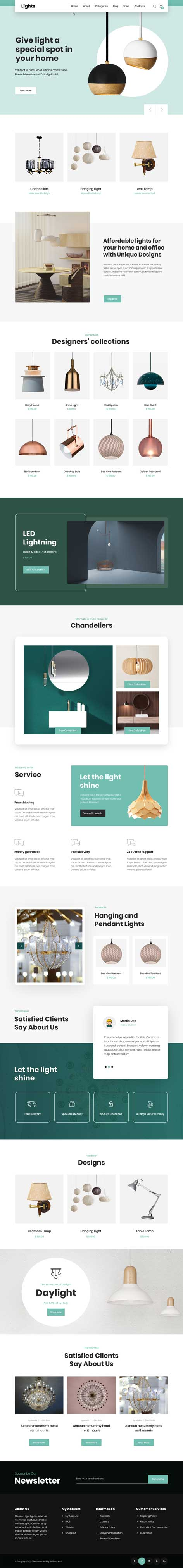 led lighting WordPress theme