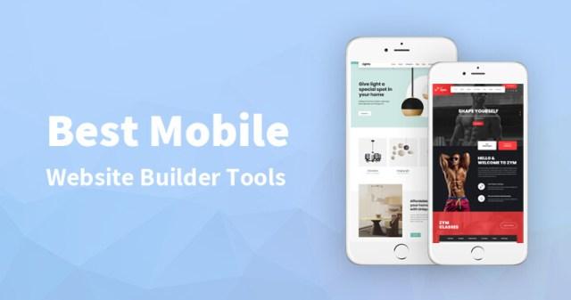 Best Mobile Website Builder Tools in 2021