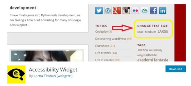 Accesibility Widget