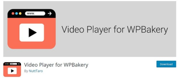 Video Player for WPBakery