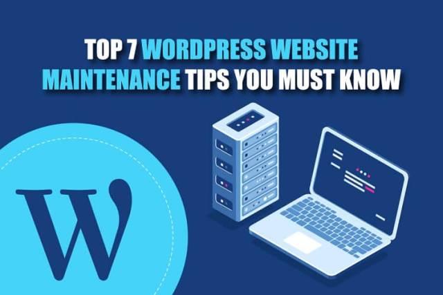 WordPress Website Maintenance Tips