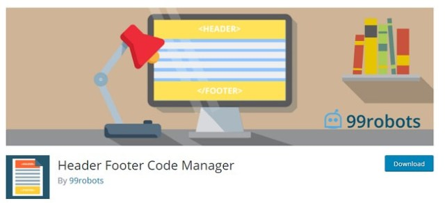 header and footer code manager