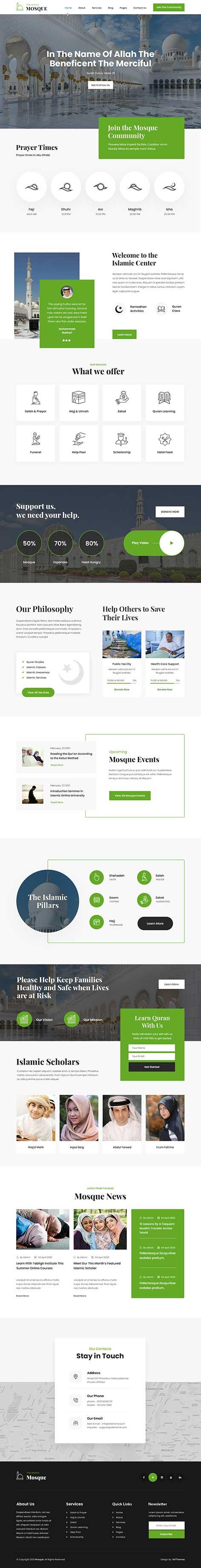 mosque WordPress theme