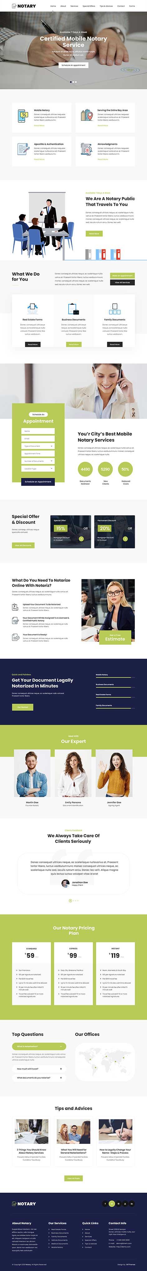 notary WordPress theme