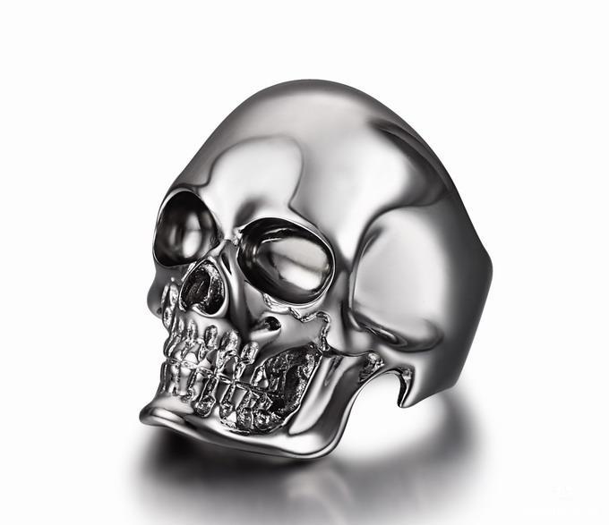 The Master Rhodium Plated Sterling Silver Skull Ring Skullis Gemstone Amp Crystal Skulls