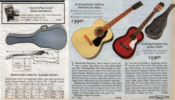 1975 Sears Catalog - guitars
