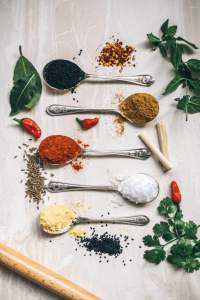 Spices in the spoon