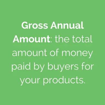 gross annual amount