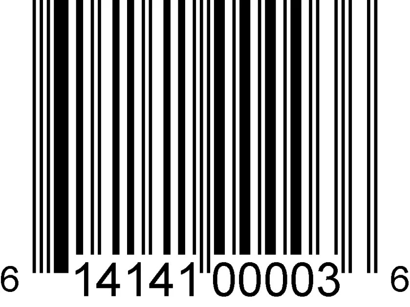 photo of a UPC barcode