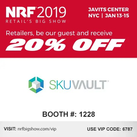 SkuVault to Exhibit at NRF for the First Time in January