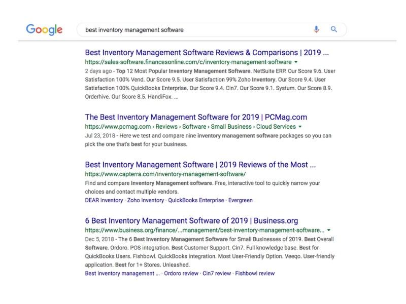 B2B Saas Search Result