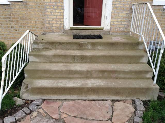 Concrete Steps Concrete Stairs Railings Repair   Railing For Cement Steps   Precast Concrete   Redwood   Steep Outdoor Step   Commercial Concrete   Elderly