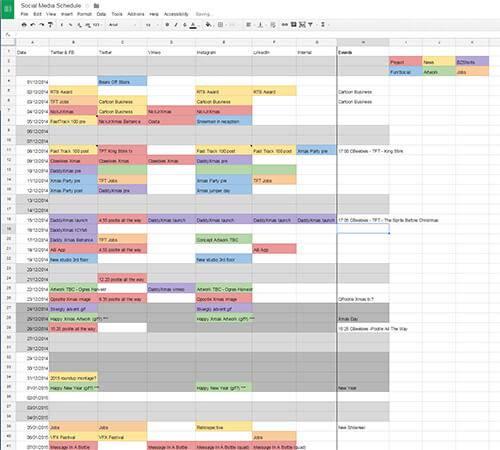 Blue Zoo Social Media Schedule