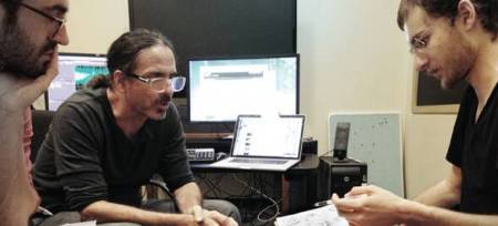 Chris Landreth works with director Alex Boya
