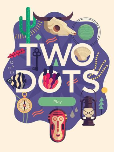 TwoDots-Title-Burst-Skull-Cactus-Planet-Shell-Leaf-Key-Fish-Seaweed-Compass-Lamp-Mask-Illustration-Owen-Davey