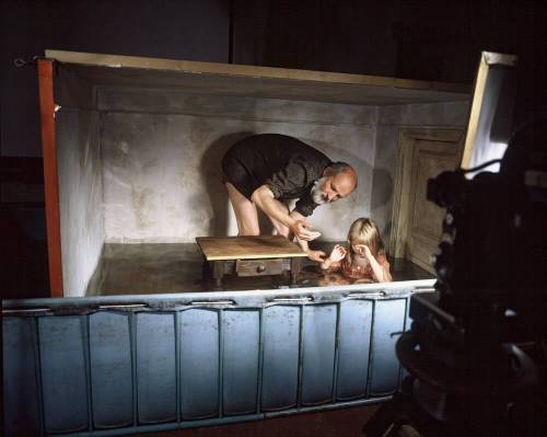 From the making of Alice, Švankmajer's first feature film (©Athanor)