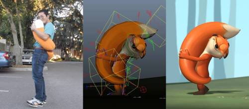 L-R: Reference, animation and final image