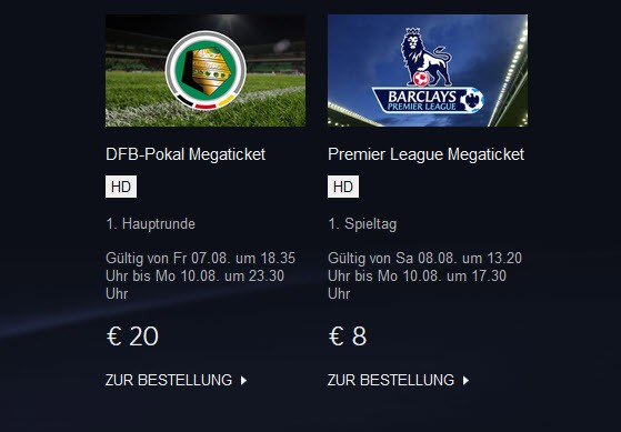 Sky Select Sport / Screenshot: Sky.de