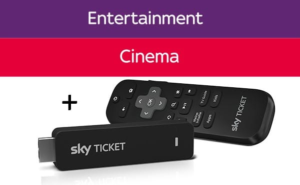 Sky Cinema + Entertainment Ticket + TV-Stick