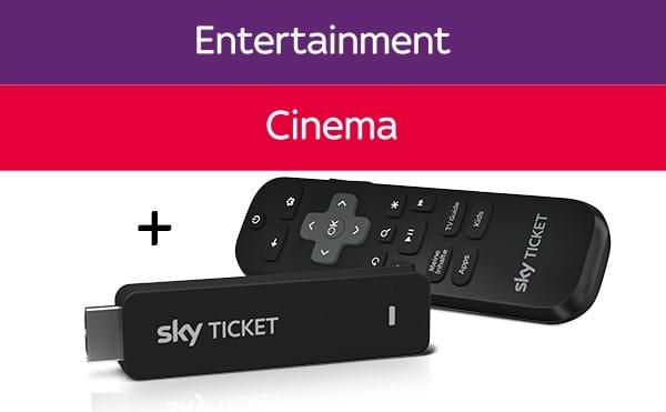 Sky Cinema + Entertainment Ticket + TV-Stick