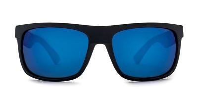 Burnet Mid Matt Black Pacific Blue Lens