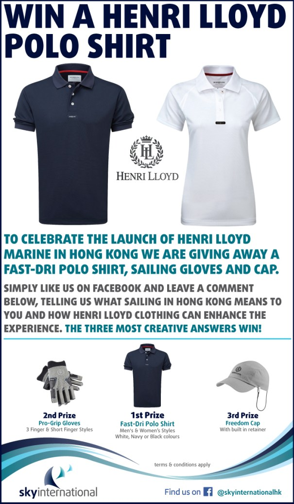 Win a Henri Lloyd Polo Shirt - Launch Competition