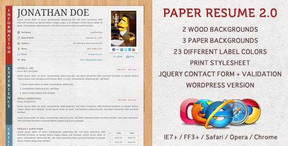 free and premium resume templates