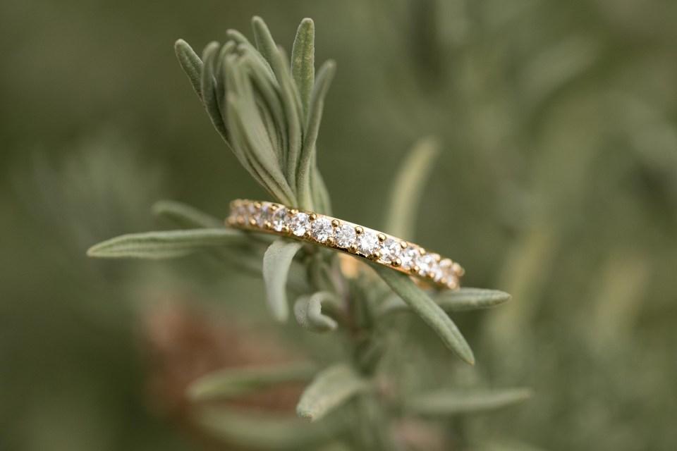 bridal ring in lavender los angeles