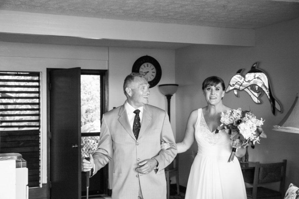 black and white father daughter Kealakekua Bay Wedding Venue