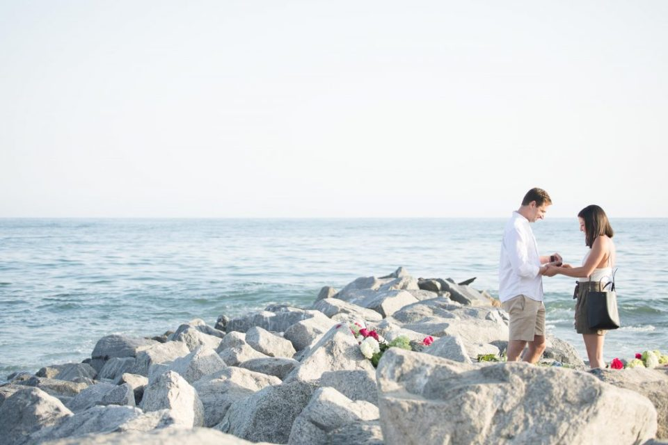 malibu proposal on the rocks beachfront