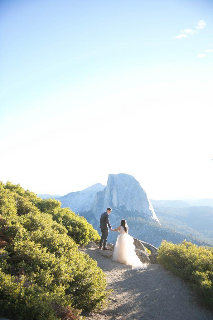 Glacier point Yosemite wedding session