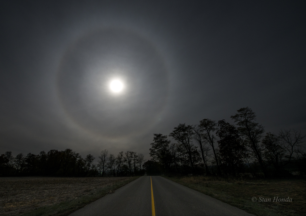 Image result for moon with halo