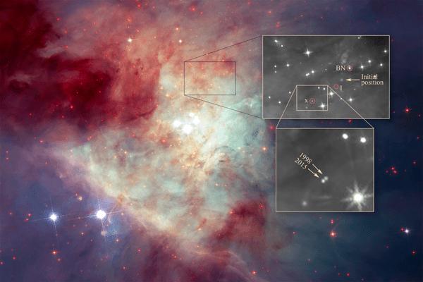 Detailed view of Kleinmann-Low Nebula