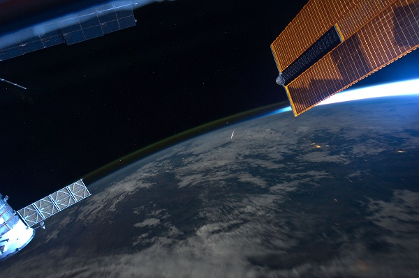 Meteor seen from the ISS