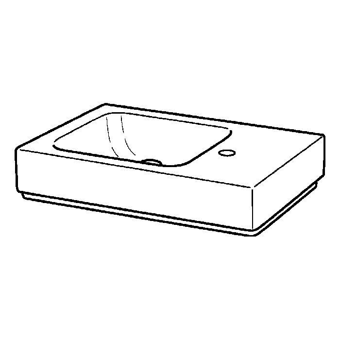 geberit icon xs lave mains 124053000 53 x 31 cm blanc etagere a droite