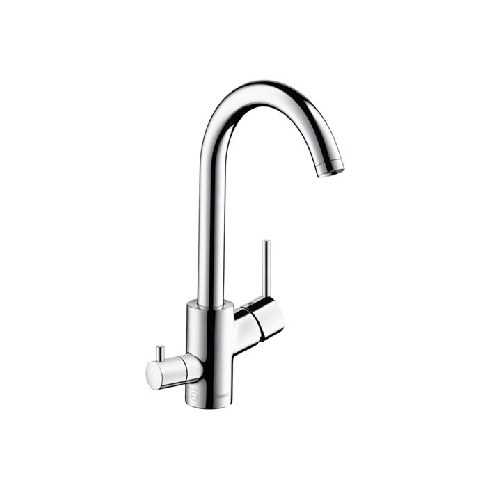 hansgrohe talis s variarc single lever kitchen mixer 14875000 device hansgrohe talis s valve swiveling chrome