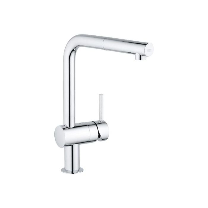 grohe minta kitchen mixer 31397000 chrome low pressure pull out spout