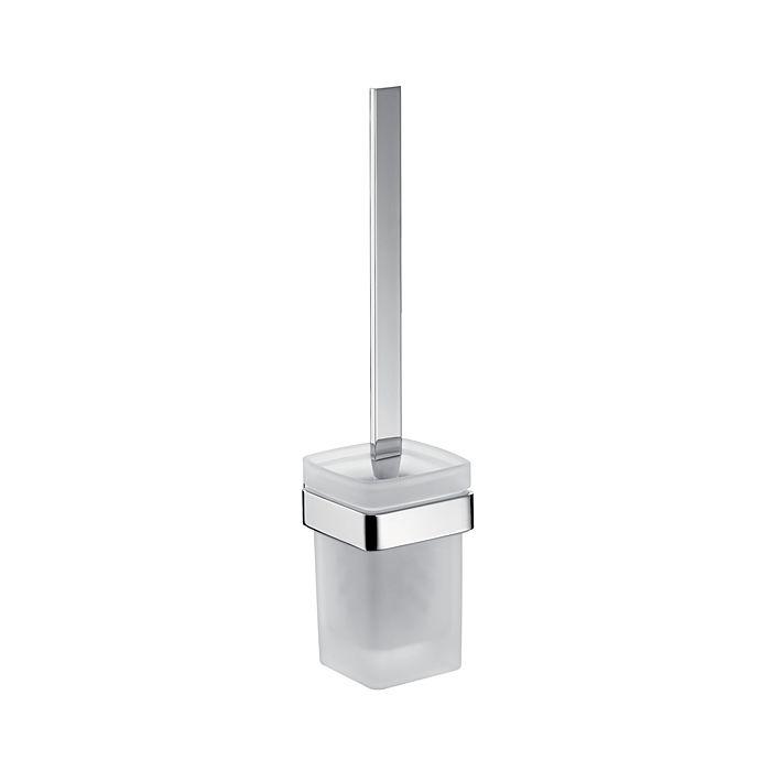 emco loft toilet brush set 051500100 wall model satin crystal glass chrome