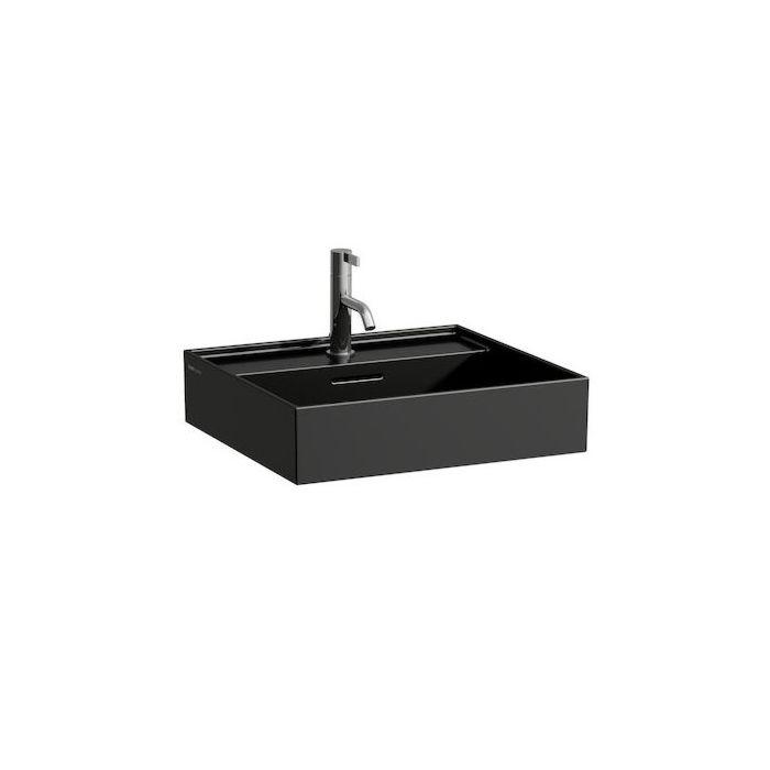 laufen kartell washbasin h8163320201091 50x46cm black overlays without tap sapphire ceramic